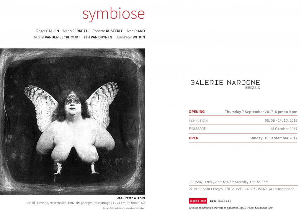 EXPOSITION SYMBIOSE            (8.09 > 15.10.2017)