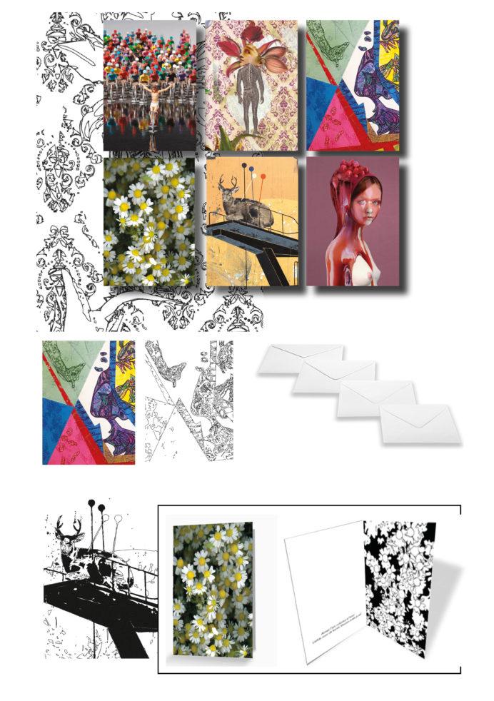 Jeu de 6 cartes d'artistes à colorier